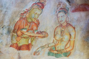 sigiriya-lady-and-flower-girl-2